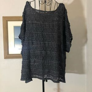 Torrid Size 3 Blue/Gray knit blouse